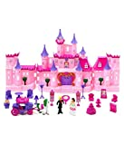 #2: Musical Castle Gift Girl Toy Princess Fairy Tale Roleplay Playset With Dolls & Furniture