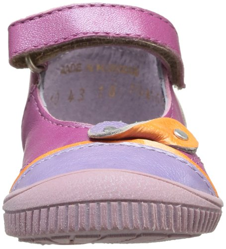 Kickers Nolita, Chaussures basses à scratch bébé fille Violet (Lilas Orange)