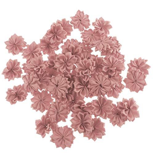 Baoblaze 50er Set Stoff Blumen Köpfe Kunstblumen Rosenköpfe Stoffrosen Blütenköpfe Handwerk Haus Hochzeit Party Dekoration - Altrosa