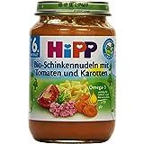 Hipp Bio-Schinkennudeln mit Tomaten und Karotten, 6er Pack (6 x 190g)