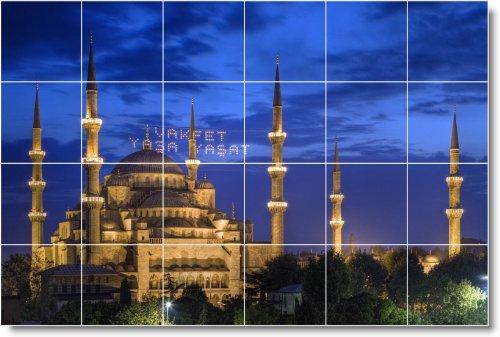 CIUDAD FOTO BACK SPLASH TILE MURAL C012  32X 48CM CON (24) 8X 8AZULEJOS DE CERAMICA