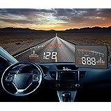 Time4Deals® HUD X5 3'' de múltiples funciones Heads up montados en vehículos de visualización del parabrisas del coche modelo del OBD II EOBD Sistema universal compatible con todos los coches