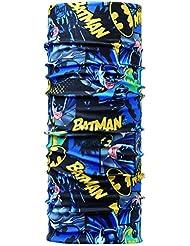 Braga y cinta de pelo infantil con diseño de superhéroes. azul BATMAN GOTHAM CITY Talla:talla única