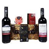 Cesto regalo vino rosso con spezie vin brulè - Il regalo ideale per il compleanno, come ringraziamento, impegno, per l'inaugurazione