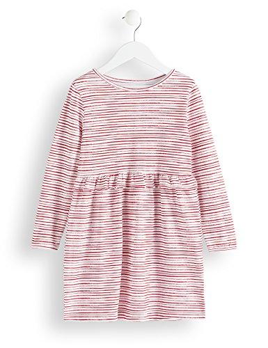 RED WAGON Mädchen Kleid mit Rüschen und Streifenmuster, Mehrfarbig (Multicoloured), 140 (Herstellergröße: 10)