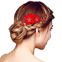1PC Austrian Women Hair Comb Crystal Apple with Leaves Pattern for Women Bride Wedding Tiara Hair decorcaión