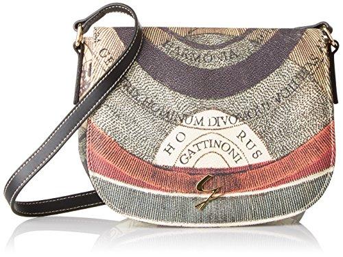 Gattinoni Gplb036, Borsa a Tracolla Donna, 6x16.5x21.5 cm (W x H x L) Multicolore (Classico)