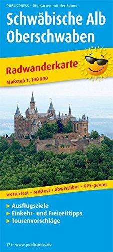 Schwäbische Alb und Oberschwaben: Radwanderkarte mit Ausflugszielen, Einkehr- & Freizeittipps, wetterfest, reissfest, abwischbar, GPS-genau. 1:100000 (Radkarte / RK)