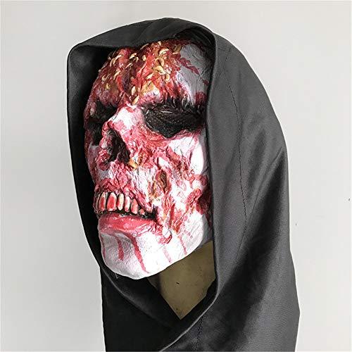 s Halloween Maske Kopfbedeckung Faules Gesicht Terror Zombie Grusel Grimasse Spukhaus Cosplay Unfug Maskerade ()