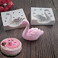 3D Swan Silicone Decorating Mold Chocolate Cake Baking Mold Fondant Handmade Soap Plaster Mould DIY Art Craft Molds Gum Paste Candle Moulds Cake Resin Clay Molds Cupcake Pastry Dessert Bakeware Pan