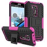 FALIANG Asus Zenfone Go TV 5.5'(ZB551KL) Funda, 2in1 Armadura Combinación A Prueba de Choques Heavy Duty Escudo Cáscara Dura para Asus Zenfone Go TV 5.5'(ZB551KL) (Hot pink)
