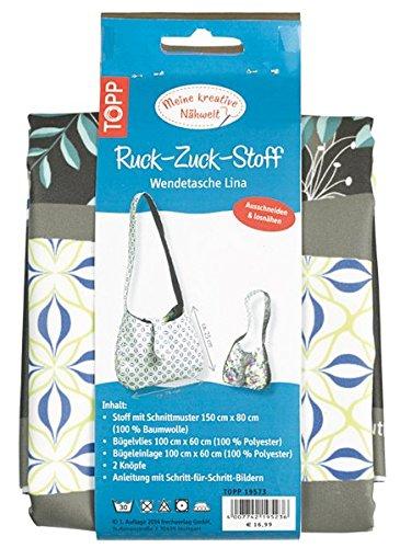 Preisvergleich Produktbild Ruck-Zuck-Stoff Wendetasche Lina: Stoff mit Schnittmuster, Bügelvlies und Anleitung für eine trendige Wendetasche