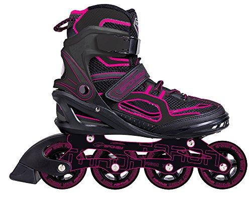 Spokey Erwachsene (Unisex) Taron Kinder | Inline Blades | ABEC 7 Karbon | Aluminium Skates, Pink, 40 (7 Inline-skate-lager Abec)