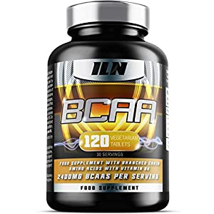 51k8dORCSyL. SS300  - Iron Labs Nutrition, BCAA - 2400mg BCAAs per Serving x 30 Servings - 120 Tablets
