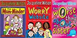 Sisters and Stars 3 Book Collection: The Worry Website, The Worst Thing About My Sister, The Mum-Minder