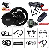 Bafang Set di Biciclette elettriche BBS02B 500W 48V Middle Motor Mountain Bike Kit di conversione Kit di conversione Biciclette Ebike