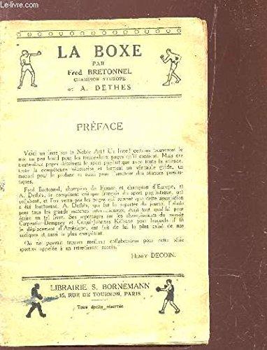 LA BOXE par BRETONNEL FRE / DETHES A.