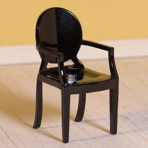 Dolls House 7219 noir Chaise -Ghost- 1:12 pour maison de poupée