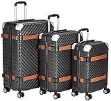 F 23 3-TLG. Trolley-Set, ABS, Milano, TSA-Schloss Koffer-Set, 76 cm, 67 L, Schwarz