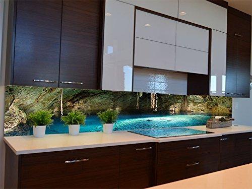 Dalinda® Küchenrückwand Küchenboard Küchenrückseite mit Design Cenote Mexiko KR087