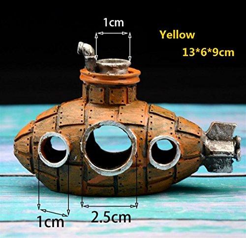 Aquarium-Dekor Aquarium-Wrack-Boots-Wal formte Unterwasserverzierungen für Aquarium-Fisch-Versteck-Höhle für Ihr Zuhause von ZFFde