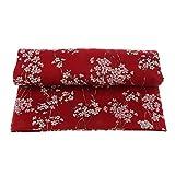 Baoblaze Tissu en Coton Kimono Japonais Fleur Blossom Artisanat De Couture Entoilage - Rouge
