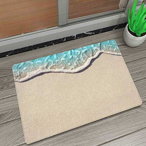 vrupi Hawaiian Resort Stil Strand Blauer Himmel weiße Wolken Ananas tragen Sonnenbrille Landschaft Muster willkommen Outdoor Indoor Schlafzimmer tür Matte heimtextilien Türmatte 40 * 60cm -
