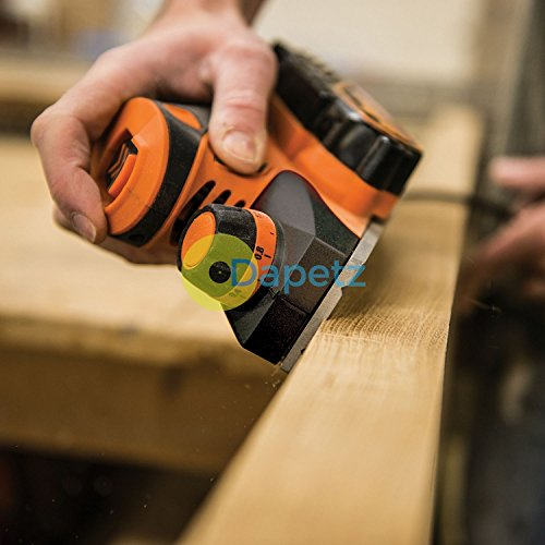 Daptez ® Heavy Duty Compact Palm Planer 420W Construction 2X Solid Reversible Hss Blades