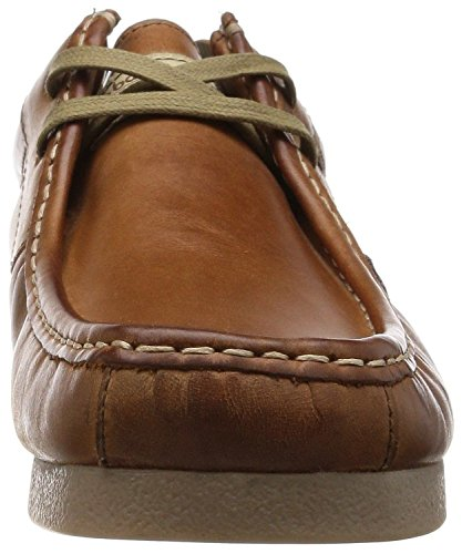 Base London Storm Tan Leather Mens Casual Lace Up Shoes