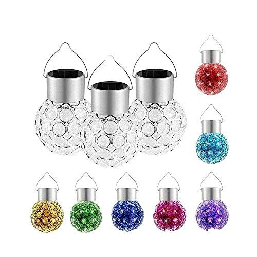 Fellibay Weihnachtsbeleuchtung Solar Lampe Aufhängen Solar-Licht Farbwechsel Solar Garten Pool Ball Licht Christmas Decorations