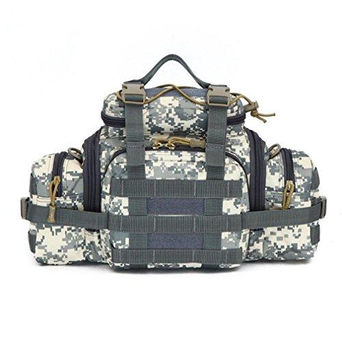 FFZH Uomini e donne borsa camouflage / Utility Tactical marsupio Molle militare Assault Pouch Trekking Escursionismo Bum Hip Pocket Ruck Sack portare borse , jungle number city number