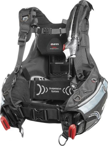 Mares Damen Weste BCD HYBRID MRS Plus she Dives, Schwarz, S/M, 417346