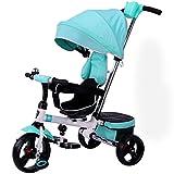 &Kinderwagen Kinder Dreirad Drehsitz 1-3-5 Jahre alt Baby Cart One-Click Folding (Farbe : 1#)