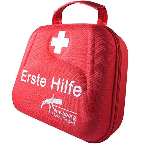 Nowaberg Medical Supplies Erste-Hilfe-Set mit CE-Kennzeichnung für Sport, zu Hause, im Büro, im Wohnwagen, beim Camping, bei Ausflügen oder auf Reisen. Tasche mit 85-teiligem Inhalt für den Notfall - 2