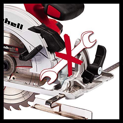 Einhell Akku-Handkreissäge TE-CS 18/165 Li-Solo Power X-Change (Li-Ion, max. Schnitttiefe 54mm, werkzeuglose Einstellung von Schnitttiefe + Neigungswinkel, Spindelarretierung, ohne Akku und Ladegerät) - 4