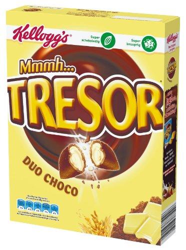Preisvergleich Produktbild Kellogg's Mmmh Tresor Duo Choco, 4er Pack (4 x 375 g)