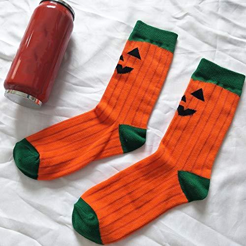 SilenceID Halloween Kürbissocken Weiche Baumwollsocken Unheimliche Halloween-Kostüme für Männer, Frauen und - Unheimliche Kostüm Bilder