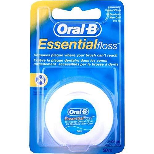 Oral-B Essential - Filo interdentale non aromatizzato, 50 m, confezione da 6