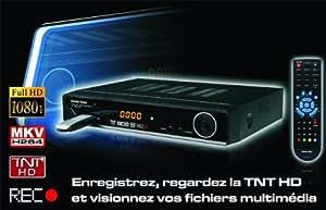 Peekton PK1890 Récepteur TNT HD avec enregistreur USB HDMI Noir