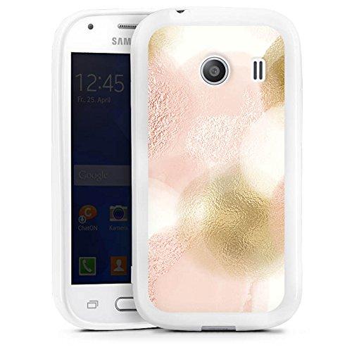 DeinDesign Samsung Galaxy Ace Style Silikon Hülle Case Schutzhülle Glitzer Look Glitter Marmor Muster