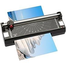 Olympia A 240 Laminiergerät Schneidemaschine (für Papier, Heiß- und Kaltlaminieren, DIN A4, Kompakt, Papierschneider mit Eckenrunder, Schneidegerät inkl. Folien-Set)