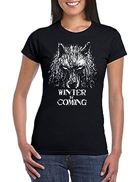 Camisetas La Colmena 344-Camiseta Mujer, Winter Is Coming, (Fuacka)