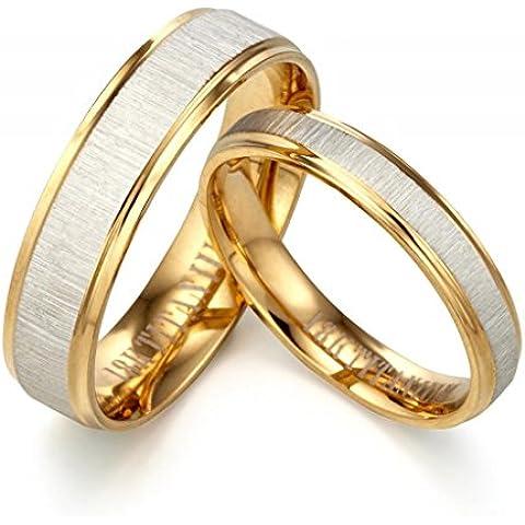 Gemini personalizzato incisione suo 18K oro giallo riempito anniversario di matrimonio anello coppie regalo di San Valentino per uomo, donna, Unisex, larghezza