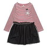 ESPRIT KIDS Mädchen Kleid RM3103307, Weiß (Heather Cream 114), (Herstellergröße: 128+)