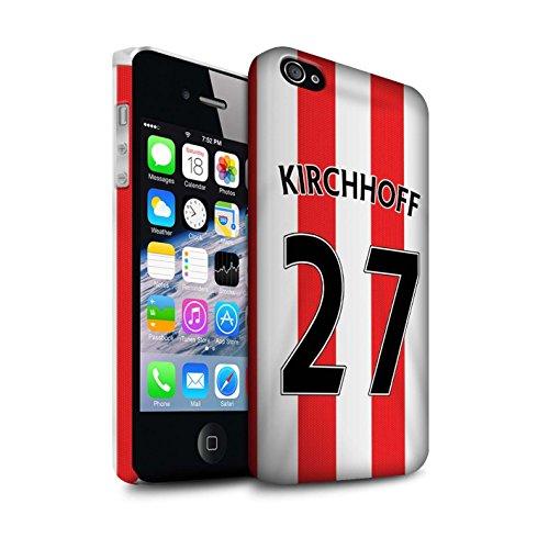 Offiziell Sunderland AFC Hülle / Matte Snap-On Case für Apple iPhone 4/4S / Pack 24pcs Muster / SAFC Trikot Home 15/16 Kollektion Kirchhoff