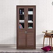 HomeTown Stark Engineered Wood Book Shelf in Walnut Colour