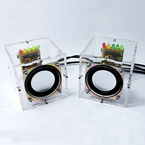 KKmoon Great Music Sound Verstärker Lautsprecherbox Elektronische DIY Kit Mini bemerkenswerte Transparente Lautsprecher Box DIY Suite