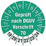 100 Stück Prüfetiketten 30 mm geprüft DGUV Information Vorschrift 70 Fahrzeuge UVV 2019-2024 Prüfplaketten