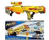 Nerf N-Strike Elite Longshot Cs-6 Yellow Toy Gun Game Play 2-In-1 Blaster Gift
