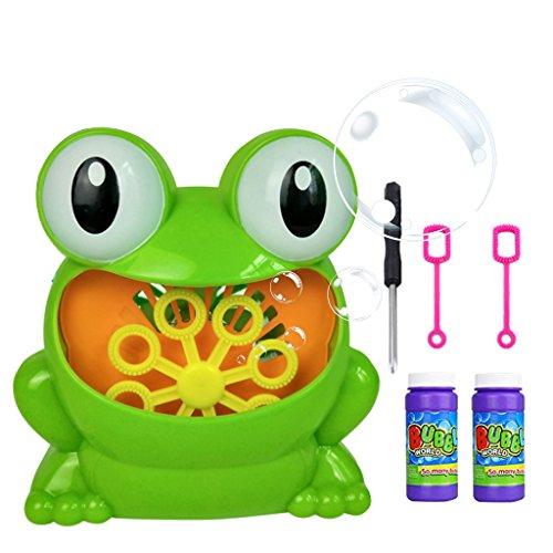 Machine Set, Frosch-automatische Blasen-Maschinen-Gebläse-Hersteller-Partei-Hochzeit im Freien scherzt Spielzeug-Spiele - D # ()